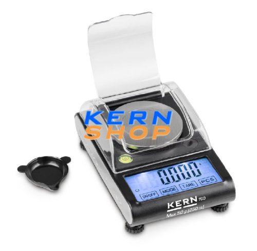KERN  TGD 50-3CS karát zsebmérleg  50 g/ 0,001 g, 250 ct/ 0,005 ct